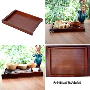 Multi Active Standard Wooden Free Tray Modern Tint Brown 2 type