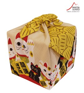"Beckoning cat ""Furoshiki"" Japanese Traditional Wrapping Cloth"