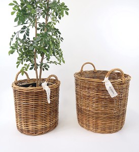 THE AROROG Planter Basket Natural Antique