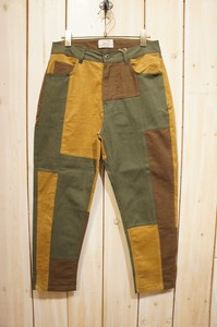 Carry Color Twill Switching Tapered Pants