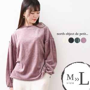 Petit Pullover High Neck Velour Blouse