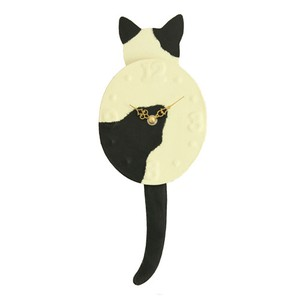 Clock/Watch Kitten Dance Japanese Paper Hand Maid Japanese Craft Cat Interior