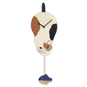 Clock/Watch Mike Japanese Paper Hand Maid Japanese Craft Cat Interior