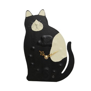 Clock/Watch Unisex Clock/Watch Black-And-White Japanese Paper Hand Maid Cat Interior