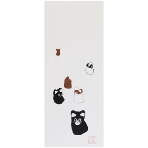 Hand Towel Walk Japanese Craft Cat