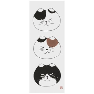 Hand Towel Japanese Craft Cat