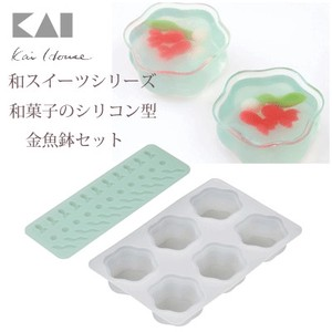 KAIJIRUSHI House Sweets Series Japanese confectionery Silicone Fishbowl Set
