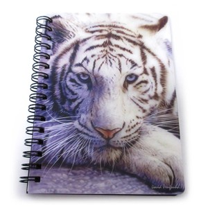 Stationery Ring Notebook White Tiger