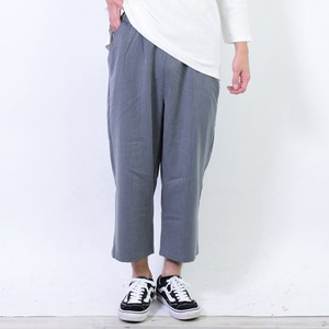 Stretch wide pants Ankle