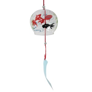 Japanese Style Glass Edo Wind Chime Goldfish