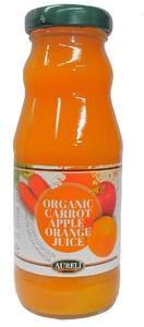 オーガニックキャロットジュース(アップル&オレンジ)原材料は有機野菜と有機果物だけのストレート