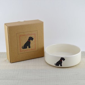 Dog Bowl Miniature Objects and Ornaments Ornament Black
