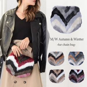 Appreciation Mix Fur Chain Bag Clutch Bag Fur Bag Fancy Goods Fluffy
