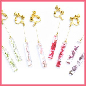 Dry Flower Stick Earring