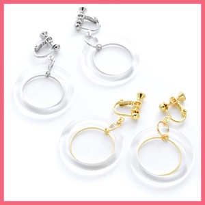 Clear Metal Earring