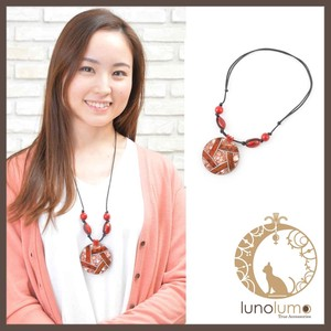 Copper Red Pendant Necklace
