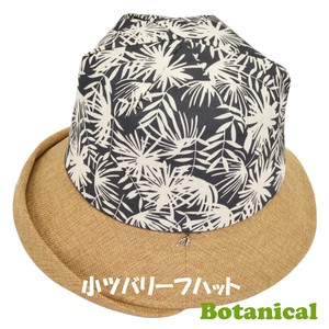 Botanical Leaf Hat Small Brim Bolt Leaf Charm