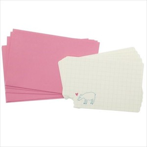 Admission MIN CARD Envelope 5 Pcs Set Grid Mint