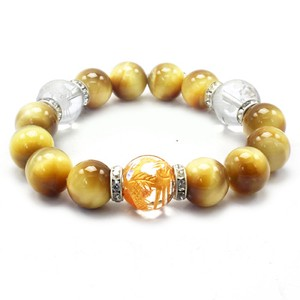 Feng Shui Good Luck Sharpen Crystal Golden Tiger's eye Bracelet Natural stone Power Stone