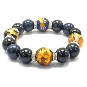 Sharpen Ryujin Feng Shui Good Luck Blue Tiger's Eye Bracelet Natural stone Power Stone