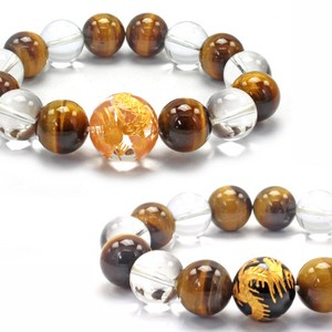 Feng Shui Good Luck Sharpen Crystal Ryujin Tiger's Eye Bracelet Natural stone Power Stone