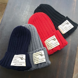 Label Knitted Hat Natural Style Production