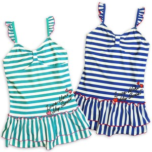 Swimwear One-piece Dress Swimwear Girl 2 Colors 30cm