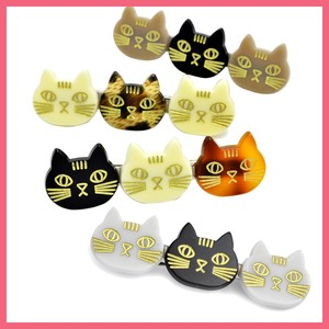 Three Cat Face Hair Clip