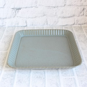 Plate Blue Pleats HASAMI Ware Modern
