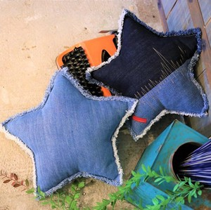 Denim Star Cushion