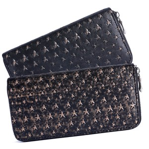 Star Pattern Push Processing Leather Wallet Men's S/S