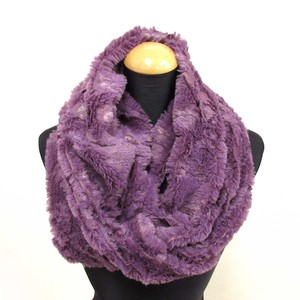 A/W Snood Fluffy Polyester Material Snood Purple