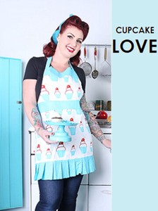 Apron Cupcake Rose New