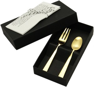 Gift Set Spoon Fork Stainless Hair line