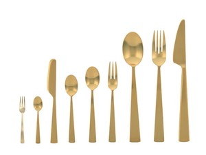 Cutlery Series Gold Stainless Hair line