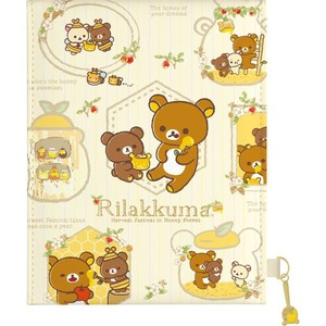 Rilakkuma Folded Mirror Metal Mascot Harvest