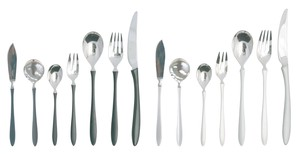 Cutlery Silver Black Stainless