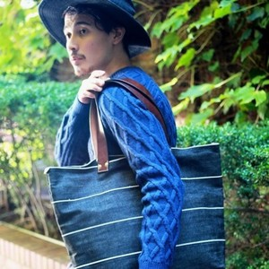 Denim Tote Bag Travel Bag