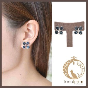 Blue Big Flower Earring
