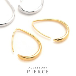 MAGGIO Drop Hoop Pierced Earring Line Elegance Lovely