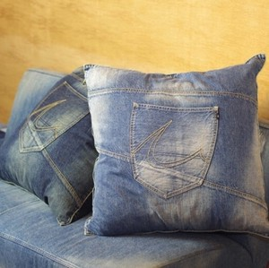 Remake Denim Cushion