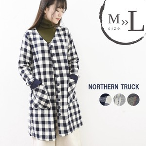 Rack Long Sleeve Long Shirt Shirt Coat Checkered