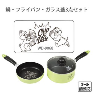 PEARL KINZOKU Disney Frying Pan Glass 3-unit Set Badge