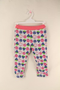 Pants Strawberry Print Stretch Fleece Material
