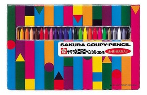 Coupy-Pencil 24 colors soft Cased