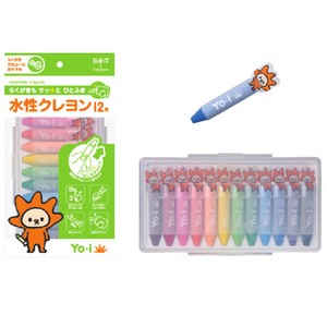 Aqueous Crayon 12 Colors
