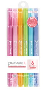 Aqueous Felt-tip pen 6 Colors Pack
