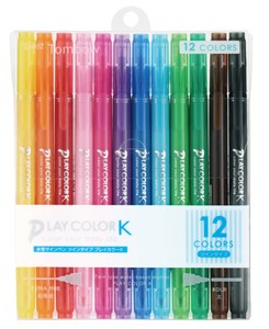 Aqueous Felt-tip pen 12 Colors Pack