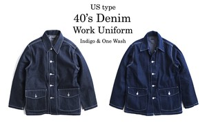 Type Denim Work Uniform Plain Wash