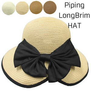 S/S Popular Brim Piping Ribbon Hat